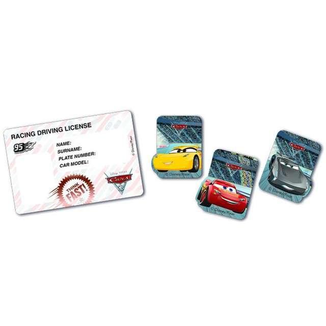 """Dekoracja """"Prawo Jazdy - Cars"""", PROCOS, 4 szt"""