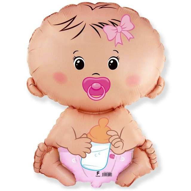 Balon foliowy Bobas Dziewczynka FLEXMETAL 26