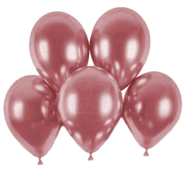 """Balony """"Shiny"""", różowy chrom, Gemar, 13"""", 5 szt"""