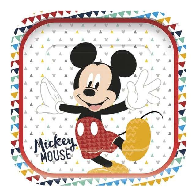 """Talerzyki papierowe """"Mickey Awesome"""", PROCOS, 24 cm,  4 szt"""