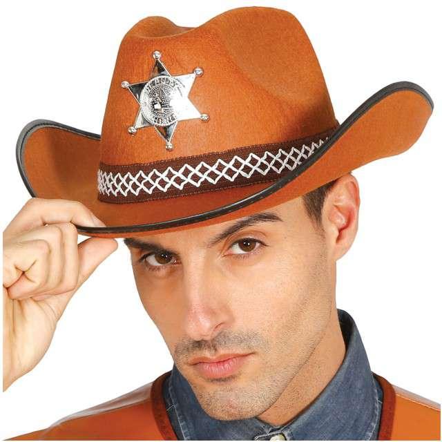 """Kapelusz """"Szeryf z Teksasu"""", brązowy, GUIRCA"""
