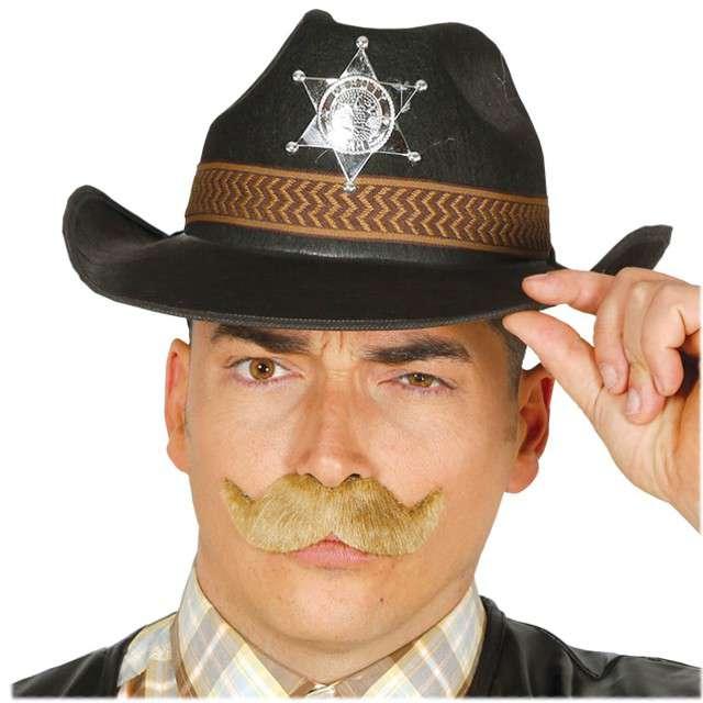 """Kapelusz """"Szeryf z Teksasu"""", czarny, GUIRCA"""