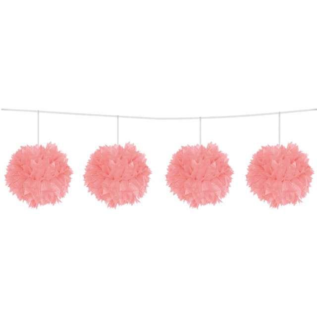 """Girlanda """"Pompony"""", różowa, FOLAT, 300 cm"""