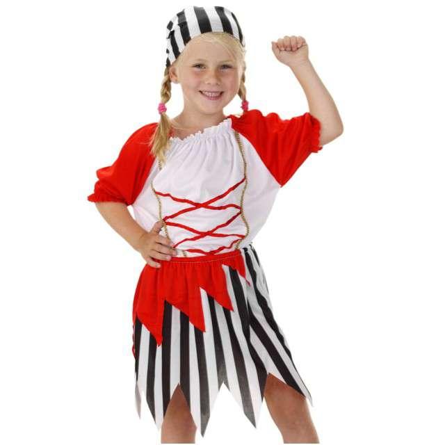 """Strój dla dzieci """"Piratka Jackie"""", FOLAT, rozm. 116-134 cm"""