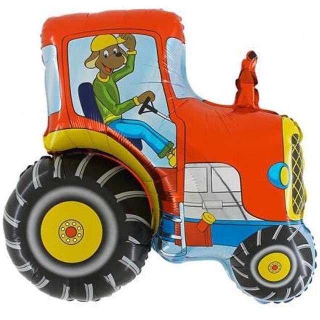 """Balon foliowy """"Traktor Czerwony"""", GRABO, 14"""" SHP"""