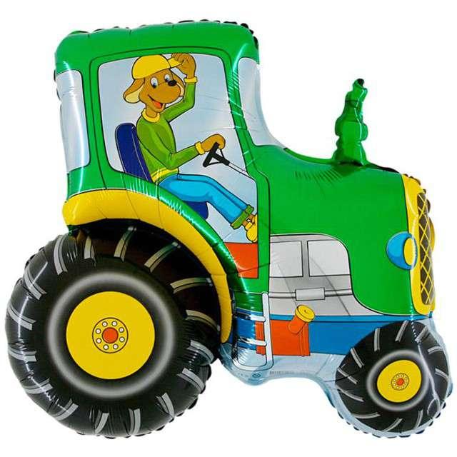 """Balon foliowy """"Traktor Zielony"""", GRABO, 21"""" SHP"""