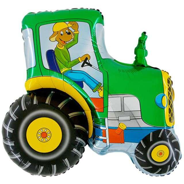 """Balon foliowy """"Traktor Zielony"""", GRABO, 14"""" SHP"""