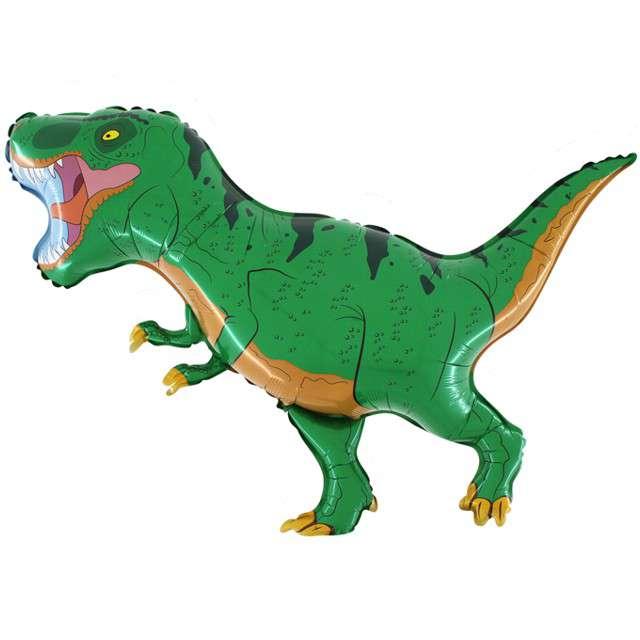"Balony foliowy ""Dinozaur T-REX"", zielony, GRABO, 21"" SHP"