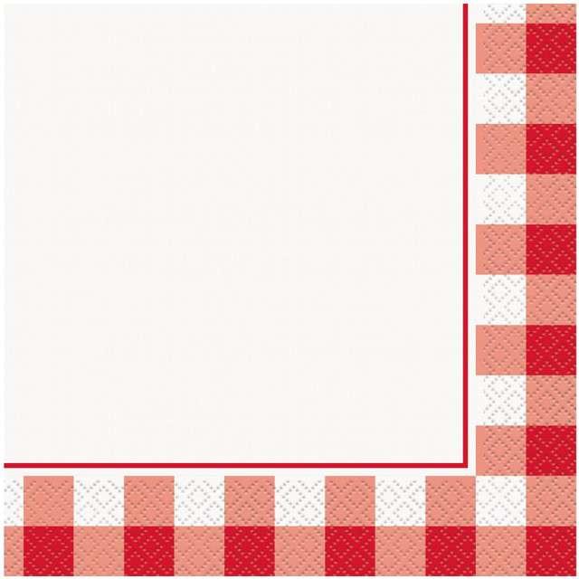 """Serwetki """"Czerwona Kratka"""", UNIQUE, 33 cm, 16 szt"""