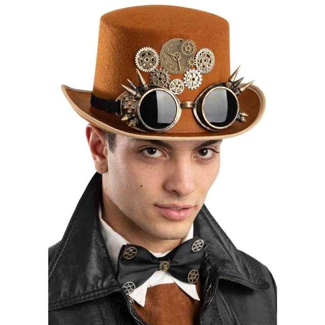 "Kapelusz ""Steampunk + Okulary"", brązowy, Carnival Toys"