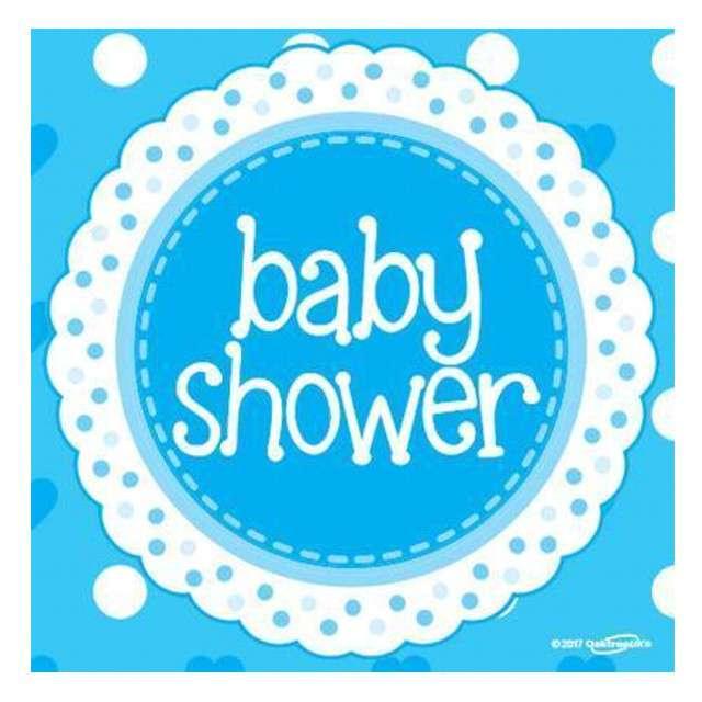 "Serwetki ""Baby Shower - Boy"", OAKTREE, 33 cm, 16 szt"