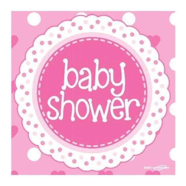 "Serwetki ""Baby Shower - Girl"", OAKTREE, 33 cm, 16 szt"