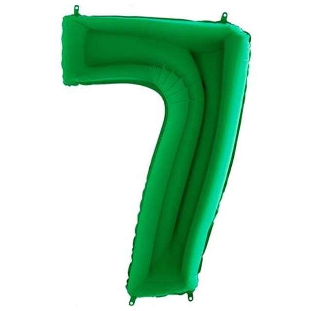 """Balon foliowy cyfra 7, 40"""", GRABO, zielony"""