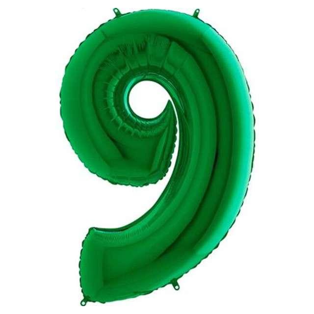 """Balon foliowy cyfra 9, 40"""", GRABO, zielony"""