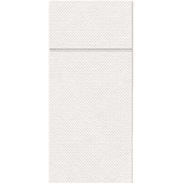 """Kieszonka na sztućce """"Punta Punta"""", biała, PAW, 38 cm, 50 szt"""