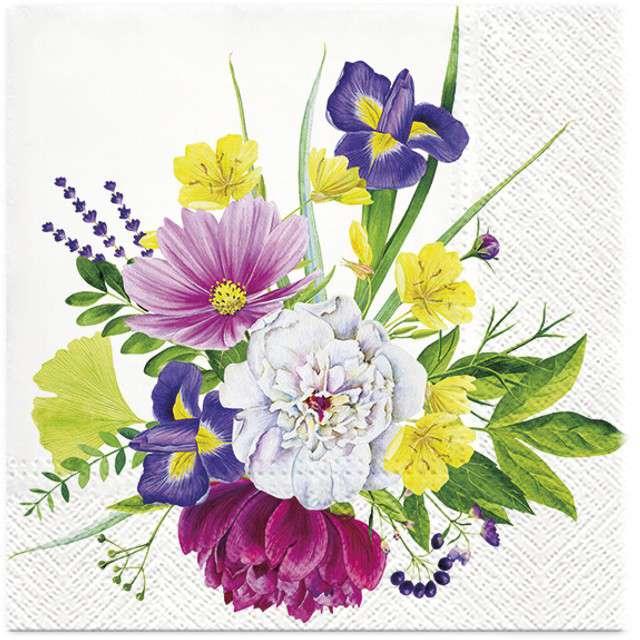 """Serwetki """"Pęczek Kwiatów"""", PAW, 33 cm, 20 szt"""