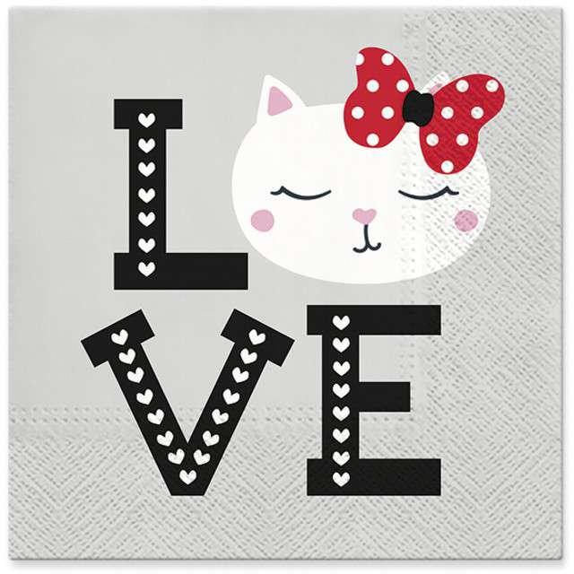 """Serwetki """"Lovely Cat"""", PAW, 33 cm, 20 szt"""