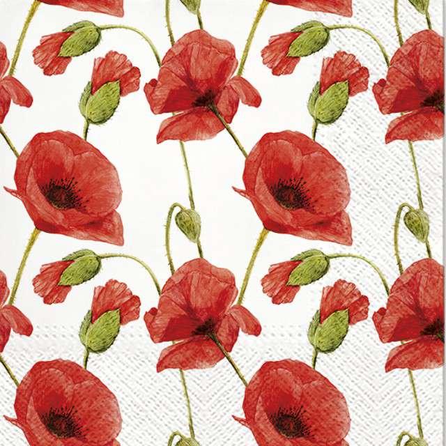 """Serwetki """"Czerwone Maki"""", PAW, 33 cm, 20 szt"""