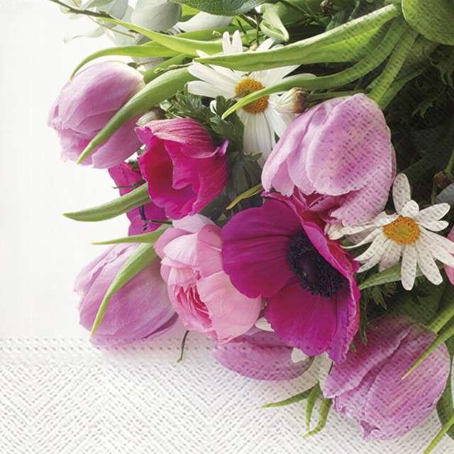 """Serwetki """"Bukiet kwiatów"""", PAW, 33 cm, 20 szt"""