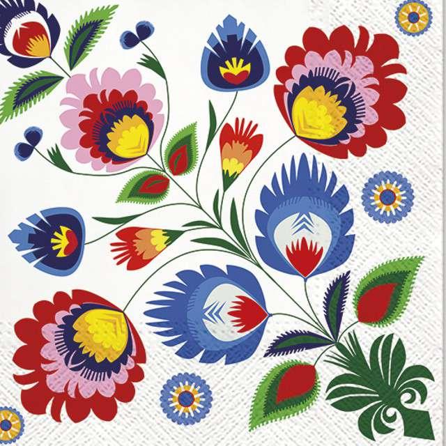 """Serwetki """"Kwiaty"""", PAW, 33 cm, 20 szt"""