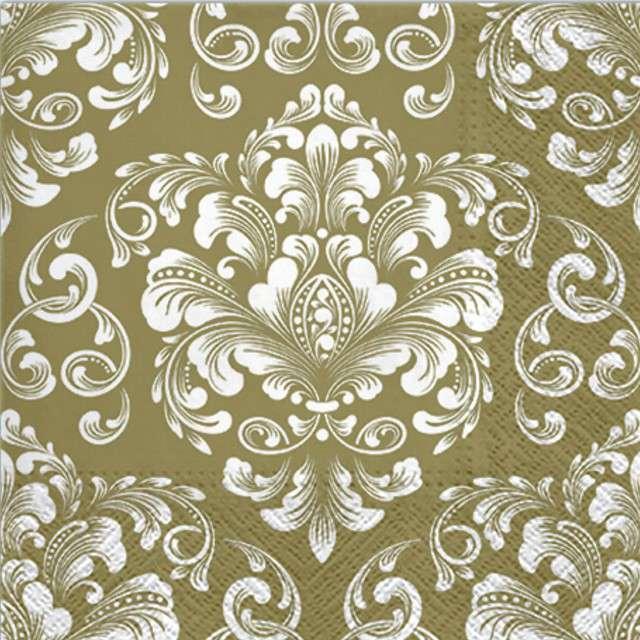 "Serwetki ""Beautiful Moments - Gold"", PAW, 33 cm, 20 szt"