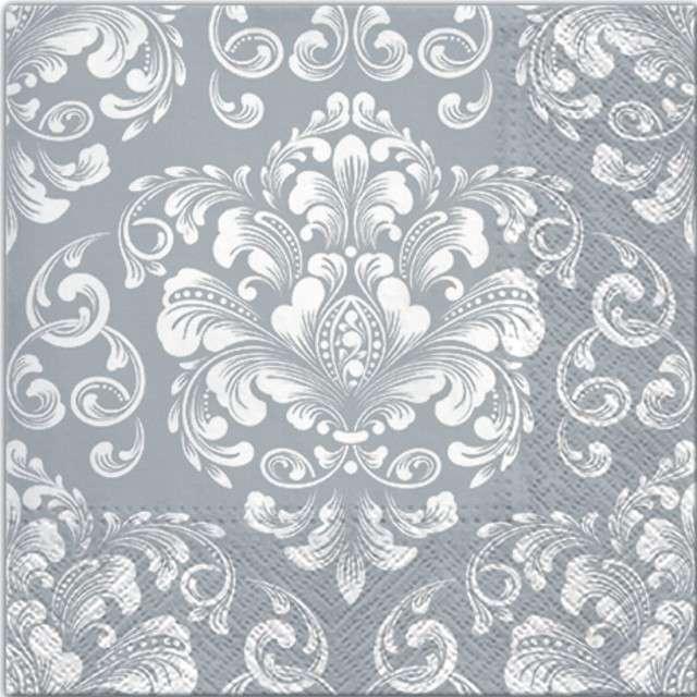 "Serwetki ""Beautiful Moments - Silver"", PAW, 33 cm, 20 szt"