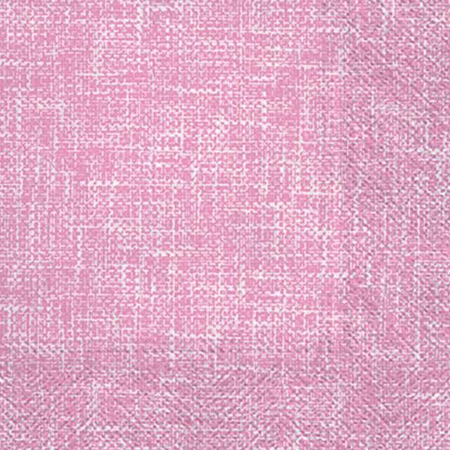 """Serwetki """"Linen Structure - Różowy"""", PAW, 33 cm, 20 szt"""