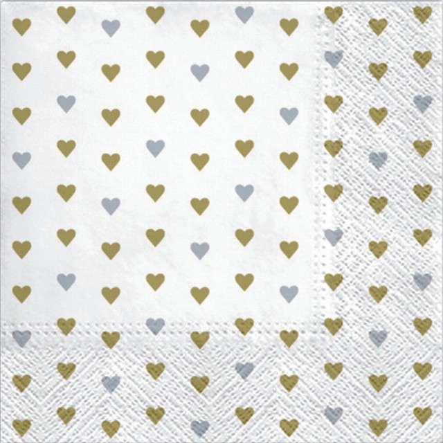 "Serwetki ""Serduszka - Lots of Love"", PAW, 33 cm, 20 szt"