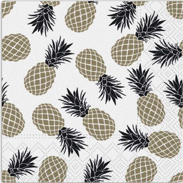 """Serwetki """"Ananas"""", PAW, 33 cm, 20 szt"""