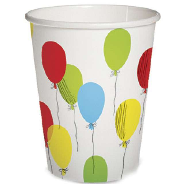 """Kubeczki papierowe """"Balony"""", PAW, 300 ml, 10 szt"""