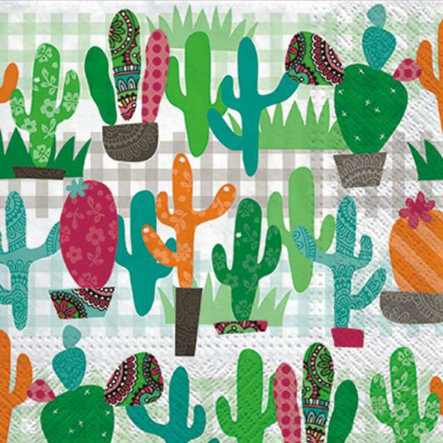 "Serwetki ""Kaktus"", PAW, 33 cm, 20 szt"