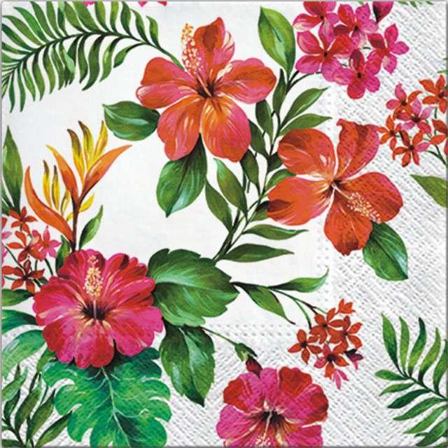 """Serwetki """"Hawajskie Kwiaty"""", PAW, 33 cm, 20 szt"""