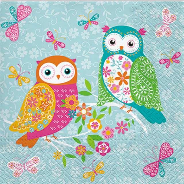 """Serwetki """"Sowa - Magical Owls"""", PAW, 33 cm, 20 szt"""