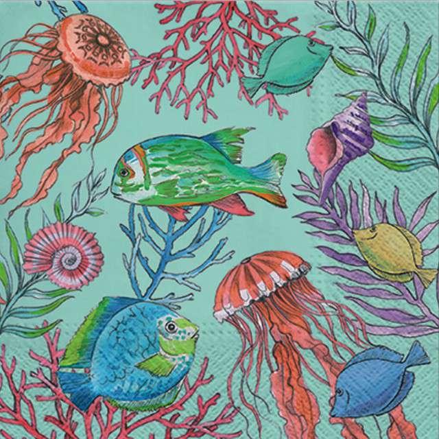 """Serwetki """"Podwodny Świat - Underwater"""", PAW, 33 cm, 20 szt"""