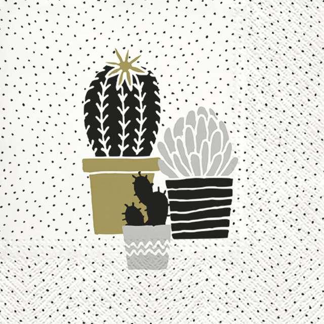 """Serwetki """"Kaktus w doniczce"""", PAW, 33 cm, 20 szt"""