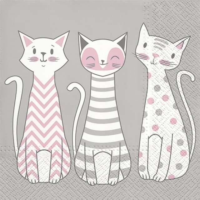 """Serwetki """"Glam Cats"""", PAW, 33 cm, 20 szt"""