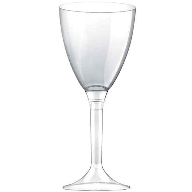 """Kieliszki jednorazowe """"Wino Classic"""", transparentne, GoldPlast, 180 ml, 10 szt"""