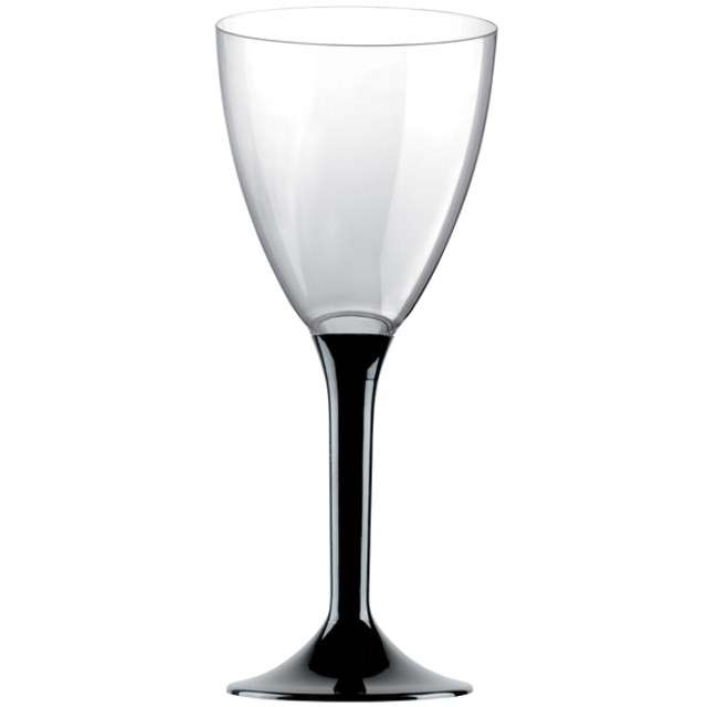 """Kieliszki jednorazowe """"Wino Classic"""", czarny, GoldPlast, 180 ml, 10 szt"""