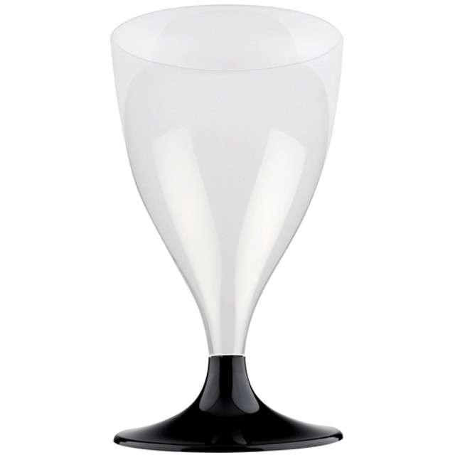 """Kieliszki jednorazowe """"Wino Classic"""", czarny, GoldPlast, 200 ml, 10 szt"""
