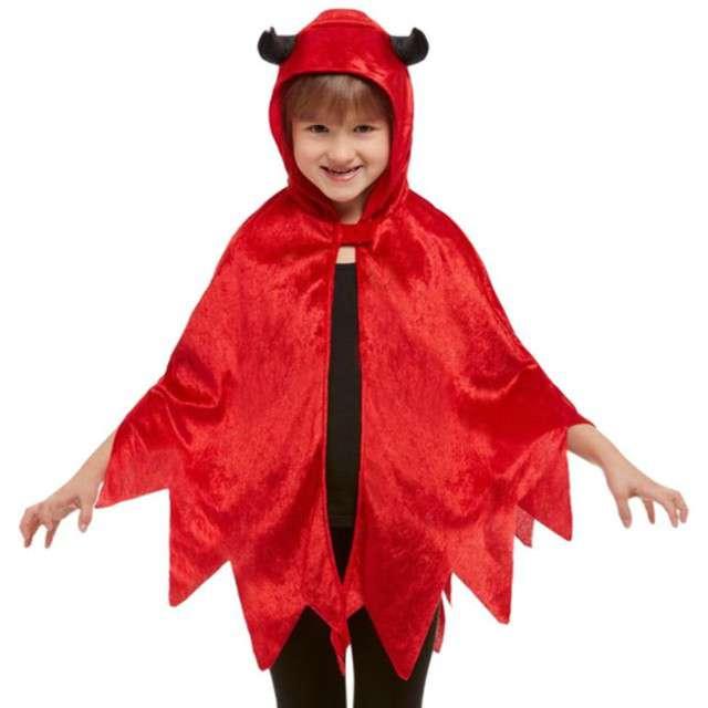 """Strój dla dzieci """"Peleryna Diabełek"""", SMIFFYS, czerwony, roz. uniw."""