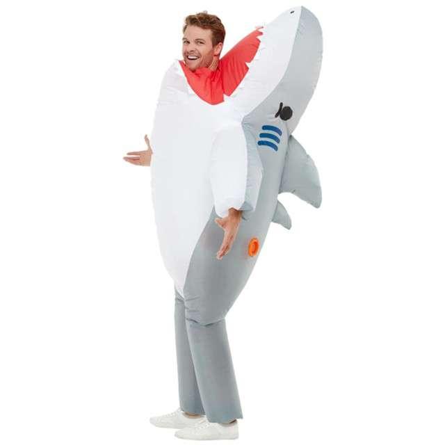 Strój dla dorosłych Rekin - Atak Szczęki SMIFFYS nadmuchiwany