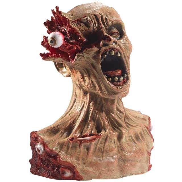 """Dekoracja """"Głowa Zombie"""", lateksowa, SMIFFYS, 40 x 33 cm"""