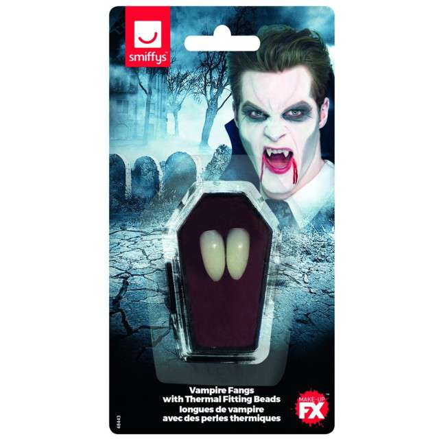 Sztuczne zęby Kły Wampira - termoplastyczne GUIRCA