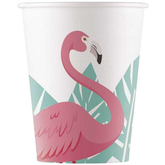 """Kubeczki papierowe """"Flamingo"""", PROCOS, 200 ml, 8 szt"""