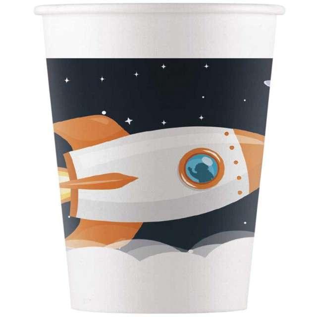 """Kubeczki papierowe """"Kosmos - Outer space"""",PROCOS, 200 ml, 8 szt"""