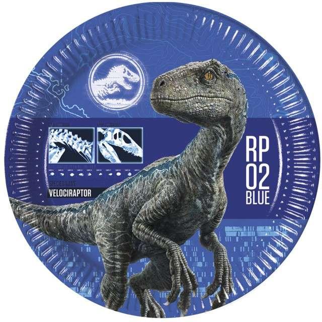 """Talerzyki papierowe """"Jurassic World"""", PROCOS, 33 cm, 8 szt"""