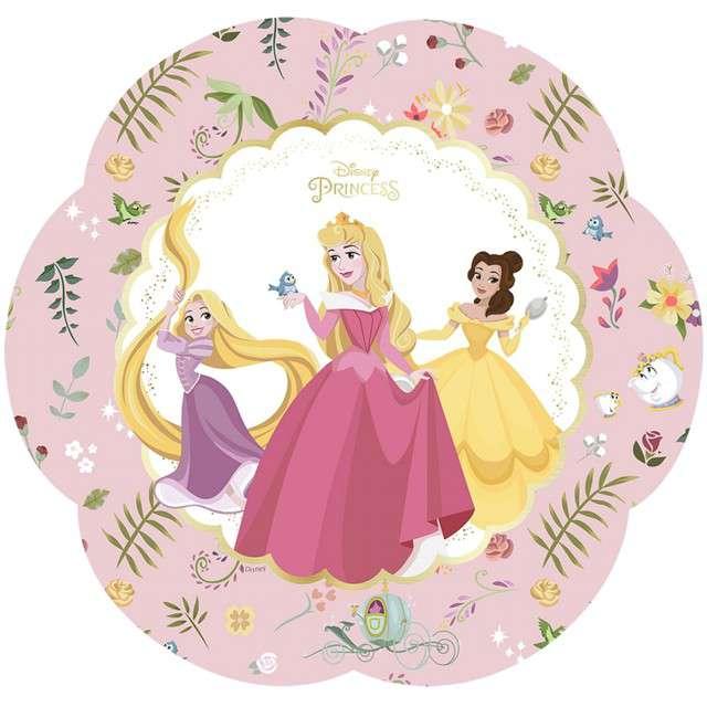 """Talerzyki papierowe """"True Princess"""", PROCOS, 25 cm, 4 szt"""