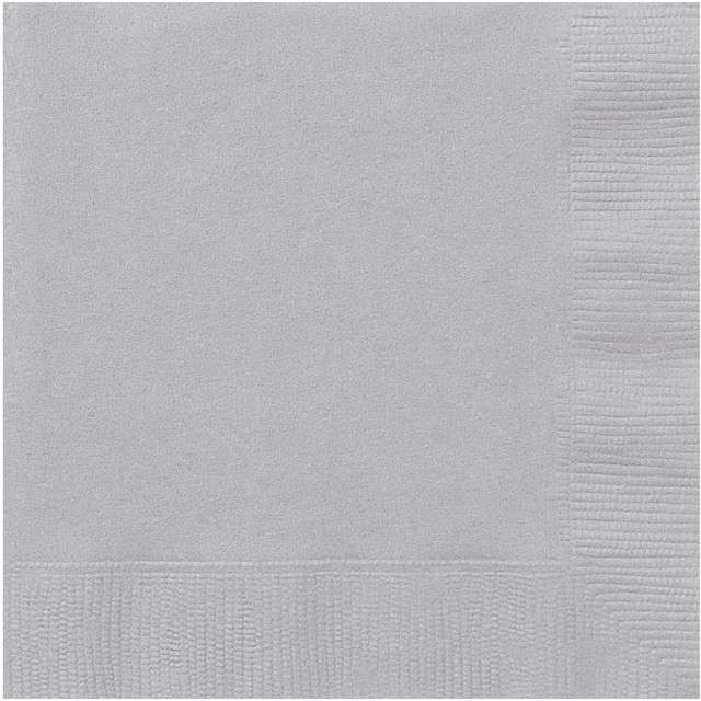 Serwetki papierowe Classic srebrny UNIQUE 33 cm 20 szt