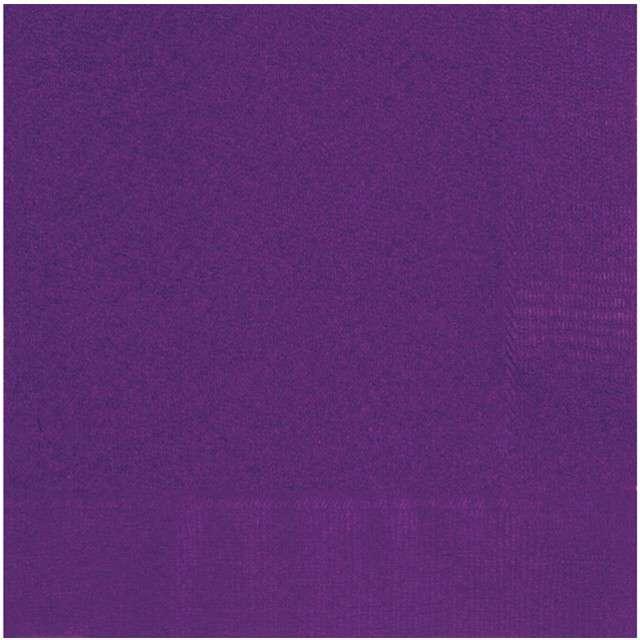 "Serwetki papierowe ""Classic"", fioletowy, UNIQUE, 33 cm, 20 szt"