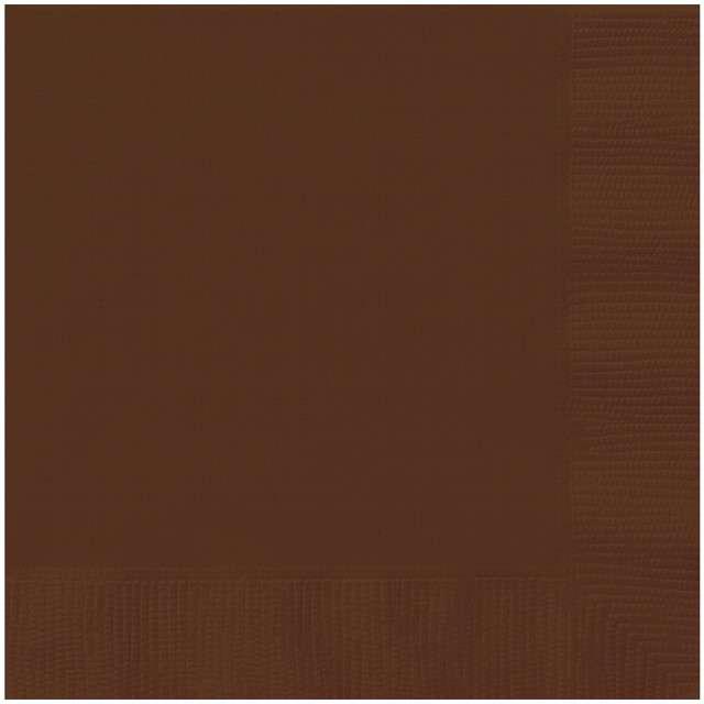 """Serwetki papierowe """"Classic"""", brązowy, UNIQUE, 33 cm, 20 szt"""